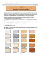 Nuancier des couleurs autorisees pour les facades