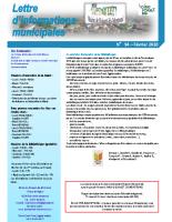 Lettre d'informations municipales n°94 février 2020