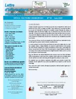 Lettre d'informations municipales n°95 juin 2020
