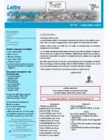 Lettre d'informations municipales n°96 septembre 2020