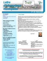 Lettre d'informations municipales n°84 de février 2018