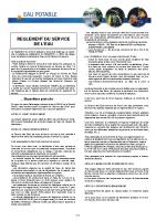 Règlement de service de l'eau SIVAP