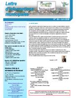 Lettre d'informations municipales n°86 de juin 2018