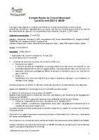 Réunion du Conseil Municipal du 26 avril 2021