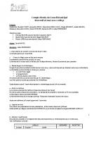 Réunion du Conseil Municipal du 26 mai 2021